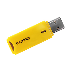 Флэш-диск QUMO 16 Gb Tropic Yellow
