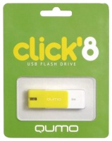 Флэш-диск QUMO 08 Gb Click Lemon (цвет лимон)