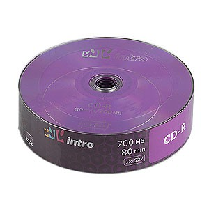 Intro CD-R 700mb 52x Shrink (25) (25/600/18000)