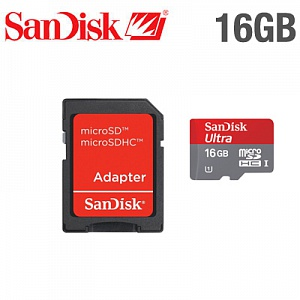 Sandisk Micro SDНС 16 Gb Class 10 Ultra + adapter
