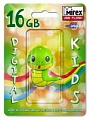 Флэш-диск Mirex 16 Gb Kids-SNAKE Green (Змейка)