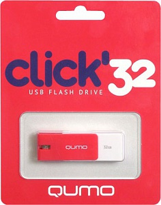 Флэш-диск QUMO 32 Gb Click Crimson (цвет алый)