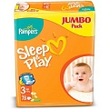 PAMPERS Подгузники Sleep & Play Midi (4-9 кг) Джамбо Упаковка 78