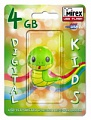 Флэш-диск Mirex 04 Gb Kids-SNAKE Green (Змейка)