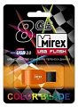 Флэш-диск Mirex 08 Gb Racer Orange